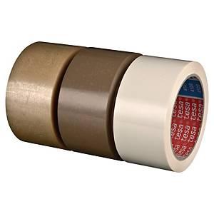 Pack de 6 cintas adhesivas de embalaje Tesa 4120 - 50 mm x 66 m - PVC - blanco