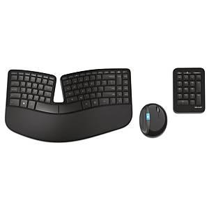 Sæt med tastatur og mus Microsoft Sculpt Ergonomic Desktop