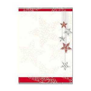 Designpapier Sigel Starlets A4, 90 g/m2, Weihnachten, Packung à 25 Stück
