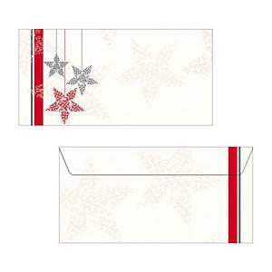 Couvert Sigel Starlets 220x110 mm, 90 g/m2, Weihnachten, Packung à 25 Stk.