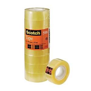 Scotch 508 Tape 19mm x 33m Clear - Pack Of 8