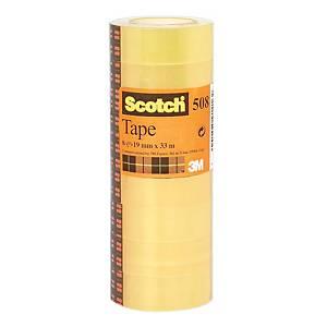 Nastro adesivo trasparente Scotch® 508 L 33 m x H 19 mm - conf. 8