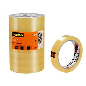 Scotch 508 Tape 19mm x 66m Clear - Pack Of 8