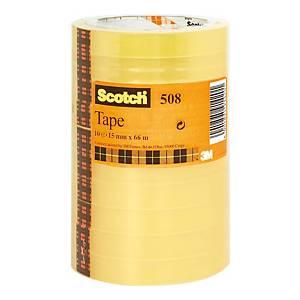 Nastro adesivo trasparente Scotch® 508 L 66 x H 15 mm - conf. 10