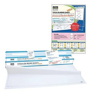Suremark Stick-on Memo Sheet SQ6080 600mm X 800m