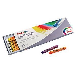 Pastele olejne PENTEL, 25 kolorów