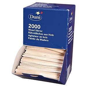 Agitateur de café Duni en bois - boîte distributrice de 2000