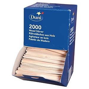 Pack de 2000 paletinas Duni de madera para café - 114 mm