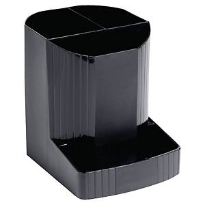 Stifteköcher Exacompta Mini-Octo mit Ablagefach, schwarz