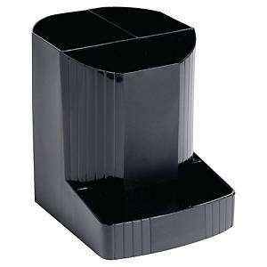Stifteköcher Exacompta 675014D Forever, 4 Fächer, schwarz