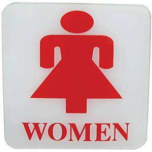 PLANGO ACRYLIC SIGN   WOMEN   SIZE 4   X 4
