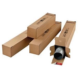 Tubus obdélníkový ColomPac®, 860 x 108 mm x 108 mm, hnědý, 10 kusů