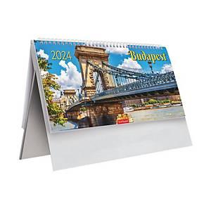 Budapest T063 - álló asztali naptár, 29,5 x 13,5 cm, 28 lap