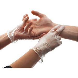 Ansell Synsation powder free PVC disposable gloves - size S - box of 100