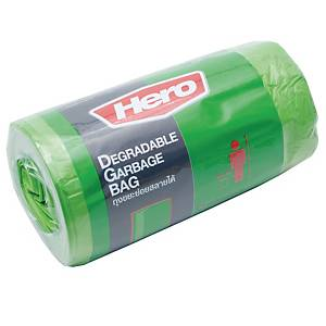 HERO Roll Waste Bag 18X20 inches Green Pack of 40