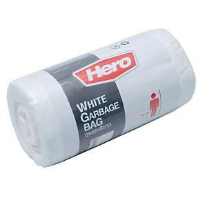 HERO ถุงขยะพลาสติกชนิดม้วน 18X20   ขาว แพ็ค 40 ใบ