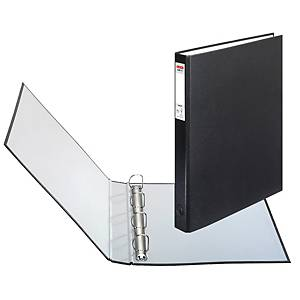 HERLITZ 4-RING BINDER PP A4 25MM BLACK