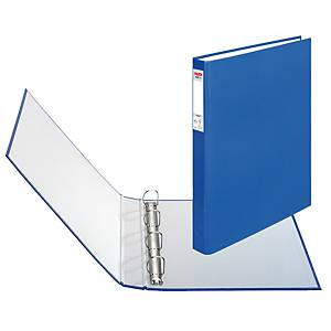 HERLITZ 4-RING BINDER PP A4 25MM BLUE
