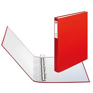 Herlitz 4-gyűrűs gyűrűskönyv PP 40 mm,  D  gyűrű - 25 mm, piros