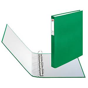 HERLITZ 4-RING BINDER PP A4 25MM GREEN