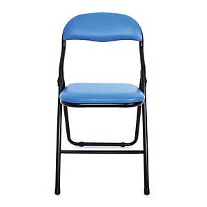 APEX เก้าอี้พับอเนกประสงค์ C-32 หนังเทียม สีน้ำเงิน