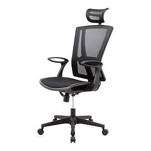 WORKSCAPE เก้าอี้ผู้บริหาร MONACO EM-205E ผ้าตาข่าย สีดำ