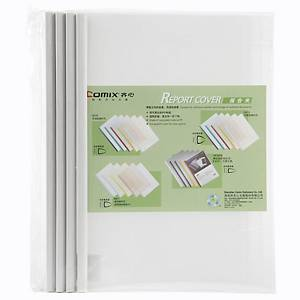 COMIX HF287A Slide Lock Folder 3mm A4 White - Pack of 5