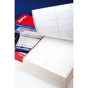 Caja de 2000 etiquetas para impresora matricial Apli 559 - 101,6 x 74,1 mm