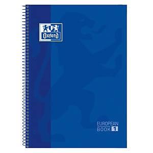 Caderno espiral Oxford Europeanbook 1 - A4+ - 80 folhas - quadriculado