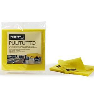 Panno multiuso Pulitutto Perfetto giallo - conf. 3