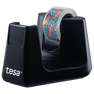 Tischabroller Tesa 53903, inkl. 1 Klebefilm 15mm x 10m, schwarz