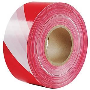 BARRIER TAPE 75 MILIMETRES X 200 METRES RED/WHITE