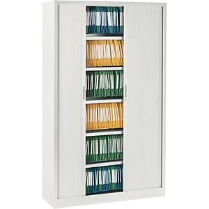 Armoire à rideaux Eol ARIV, 4 étagères, l 120 x H 198 x P 43 cm, blanche