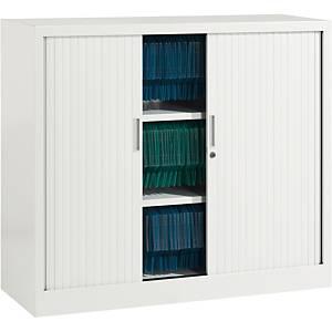 Armoire à rideaux Eol ARIV, 2 étagères, l 120 x H 105 x P 43 cm, blanche