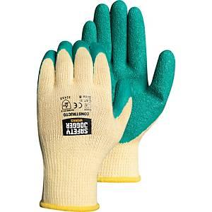 SAFETY JOGGER ถุงมือ CONSTRUCTO คอตตอน ลาเท็กซ์ XL/10 เขียว 1 คู่