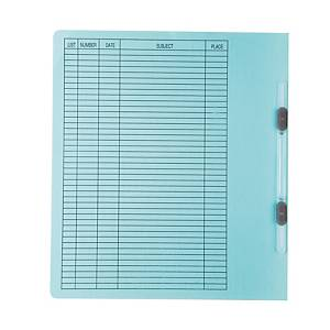 BAIPO PAPER FOLDER WITH PLASTIC FASTENER A4 300 GRAMS BLUE - PACK OF 50
