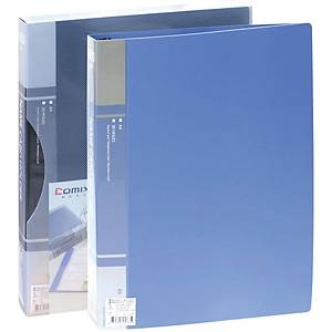COMIX SC300 BUSINESS CARD FOLDER FOR 300 CARDS ASSORTED COLOURS