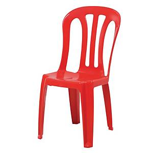 Writebest Plastic Chair Red
