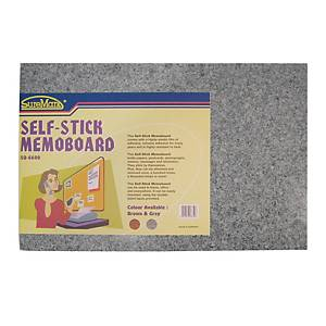 Suremark Self Stick Brown Memo Board 60 X 40cm Grey