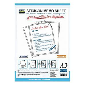 Suremark Stick-On A3 Memo Sheet - Pack of 12