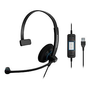 Headset Sennheiser 504546, SC30, USB, schwarz