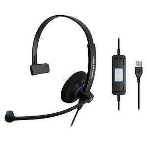 Auricular monoaural SENNHEISER SC30 com conexão USB