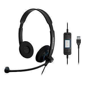EPOS-Sennheiser SC60 Wired USB PC Binaural Headset Skype