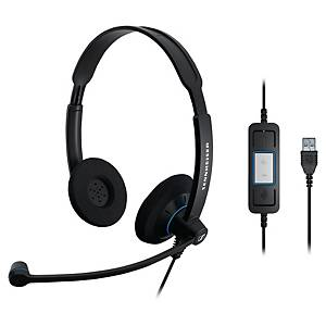 Sennheiser SC60 pc headset with cord - binaural