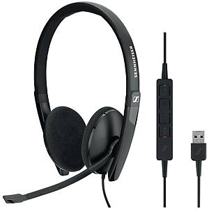 Sennheiser SC60 Wired USB PC Binaural Headset Skype