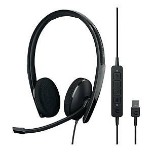 Słuchawki SENNHEISER SC160 USB, przewodowe dwuuszne, PC