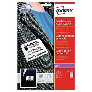 Avery Zweckform selbstklebende Namensetiketten, L4785, 200 Stück