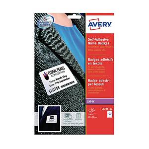 Avery L4784-15 White Bame Badge Laser Label 80 X 50mm - Box of 200