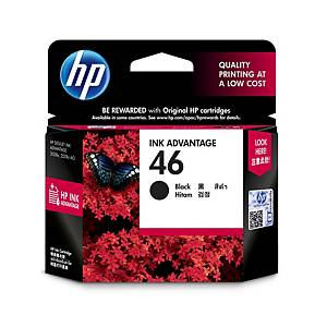 HP ตลับหมึกอิงค์เจ็ท HP46 CZ637AA สีดำ