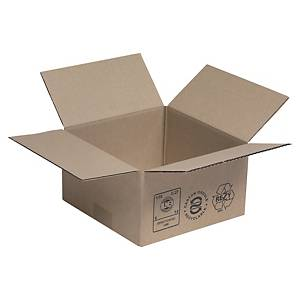 KRAFT C/BOARD BOX SINGLE WALL 200X200X110MM PACK OF 25